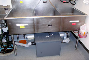 Grease Trap Cleaning Filter Exchange Kitchen Hood